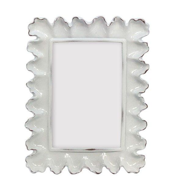 Magazzino Off White Glazed Resin Ornate Picture Frame - Magazzino