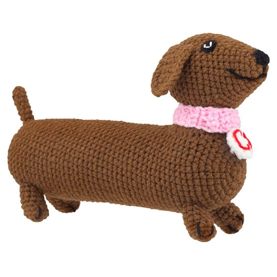 Knitting Patterns For Sausage Dogs : Magazzino Knitted sausage dog - Magazzino