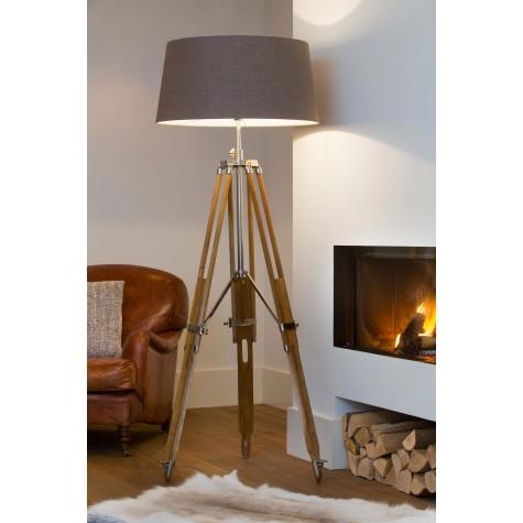 magazzino tripod natural wood floor light magazzino. Black Bedroom Furniture Sets. Home Design Ideas