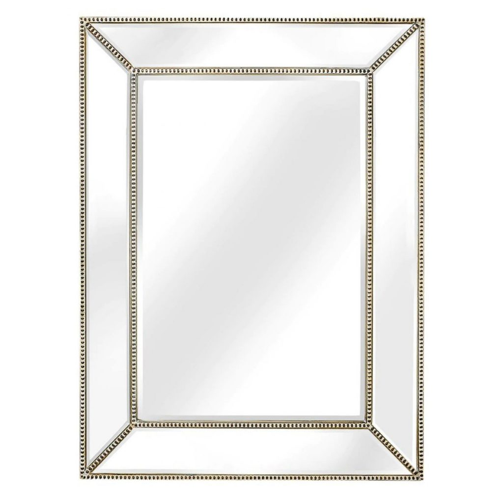 Magazzino Bronze Beaded Framed Mirror Magazzino