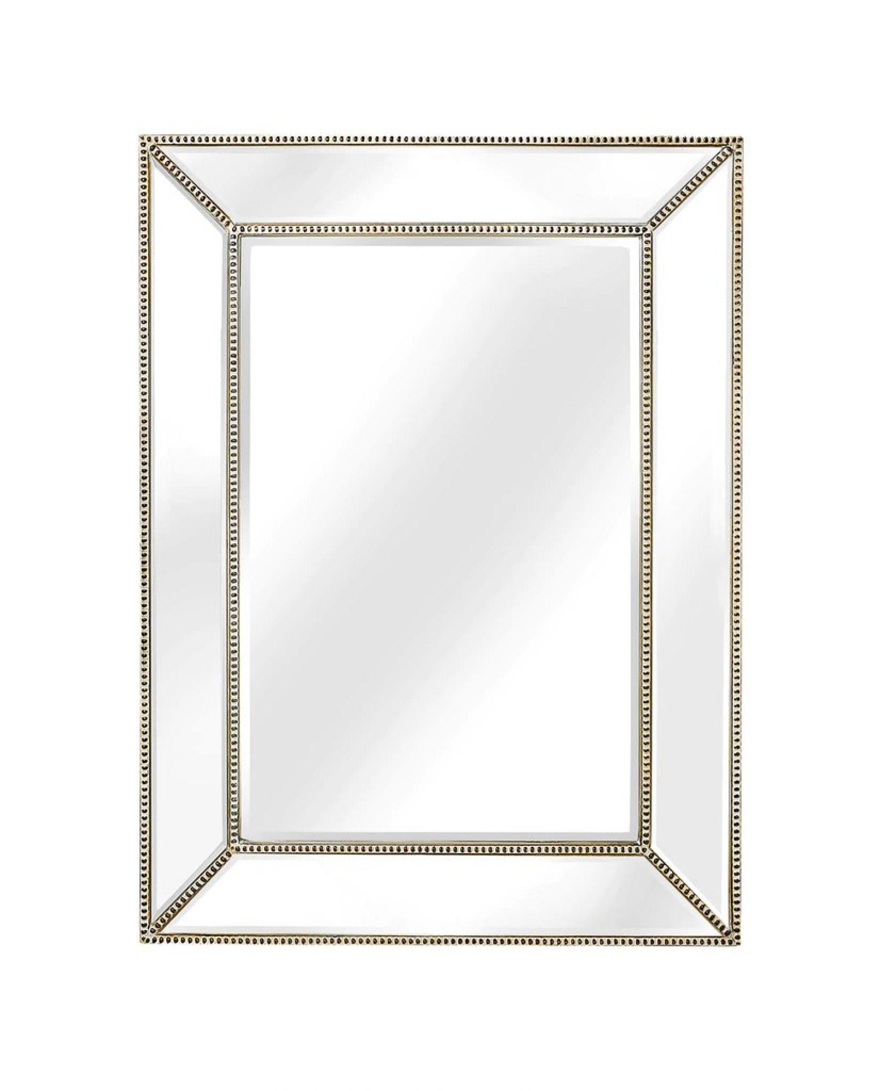 Bronze Beaded Framed Mirror